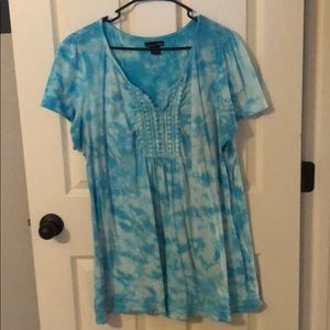 Cute short sleeve baby doll type blouse size 2x